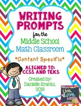 Middle School Math Writing Prompts { Content Specific }
