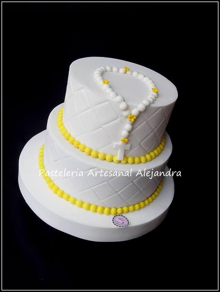 cake comunión  https://www.facebook.com/pasteleria.alejandra