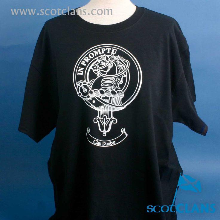 Dunbar Clan Crest Outline T-Shirt