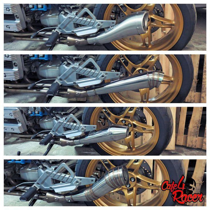#BMW #K100 #custom #exhaust #muffler #collector 4to1