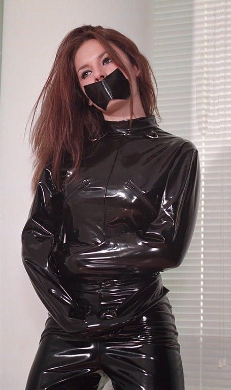 Girls In Straitjackets Catsuit Straight Jacket Pvc