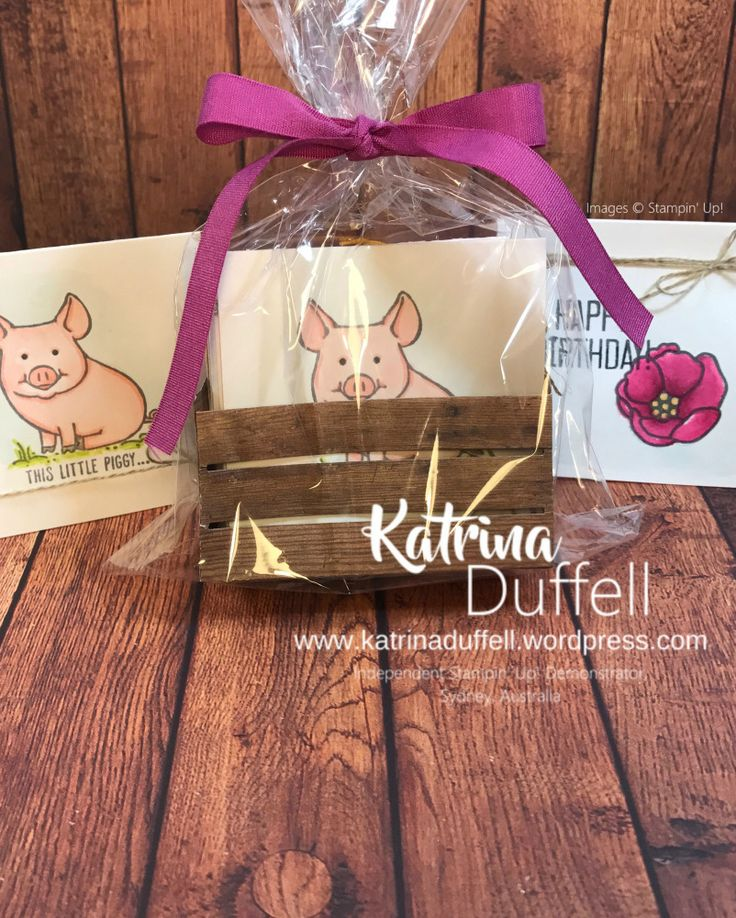 This Little Piggy, Soft Sayings, Wood Words Crate, Berry Burst Ribbon, 2017-2018 Annual Catalogue - Katrina Duffell