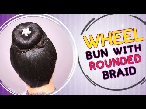 Wheel Bun With Rounded Braid Hair Style Visit for Hair care products:- http://khoobsurati.com/haircare  Visit for Tutorial:- https://www.youtube.com/watch?v=JkdjodFQYsQ