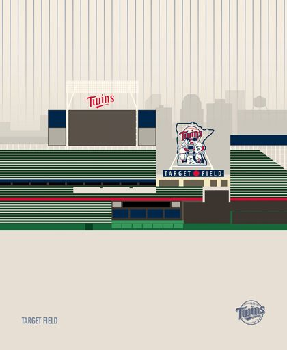 MLB Baseball Stadiums by Marcus Reed, via Behance