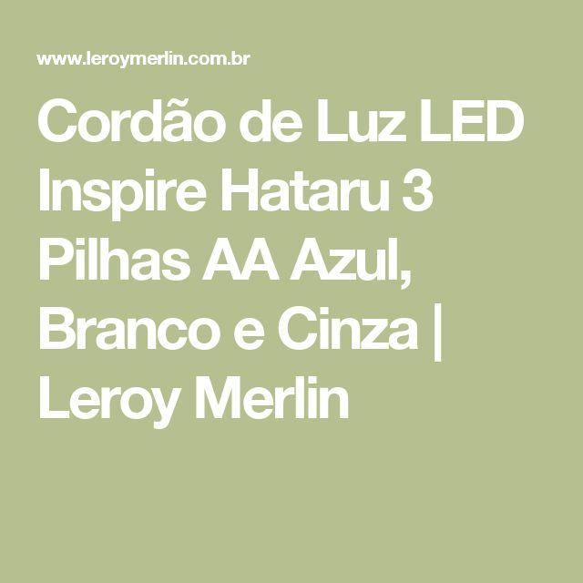 Cordão de Luz LED Inspire Hataru 3 Pilhas AA Azul, Branco e Cinza | Leroy Merlin