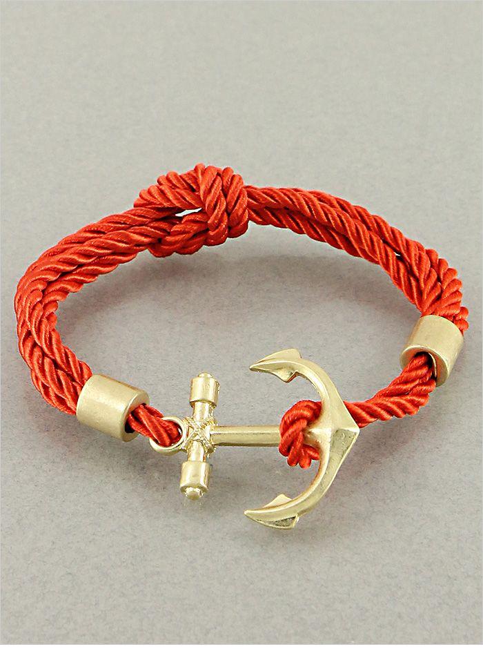 Anchored Bracelet in Red