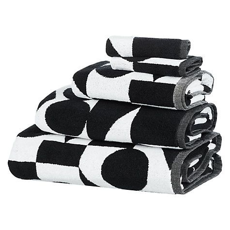 Buy PATTERNITY + John Lewis Reflect Organic Cotton Towels, Black/White Online at johnlewis.com