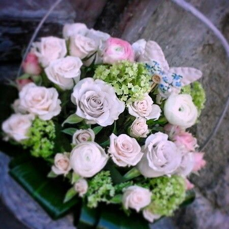 Flowers in basket..