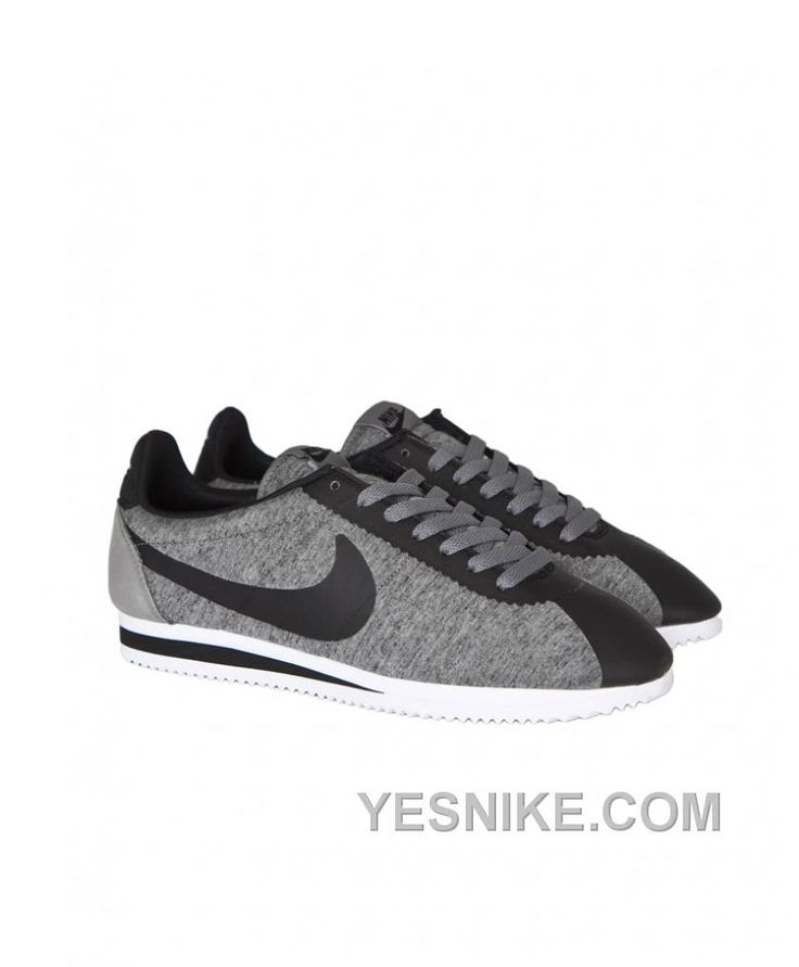 Nike Cortez Mens Grey Black White Black Friday Deals 2016[XMS1483]