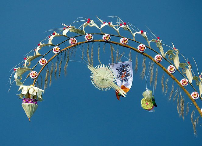 Bali Festival Decoratie Bali Indonesie Afbeeldingen