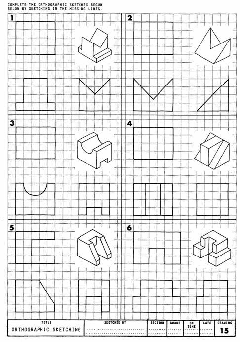 Drawing Lines Exercises : Best images about teaching engineering drawing on