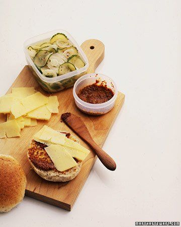 Cheddar Sandwiches with Quick Pickles and Honey-Mustard Spread - Martha Stewart Recipes