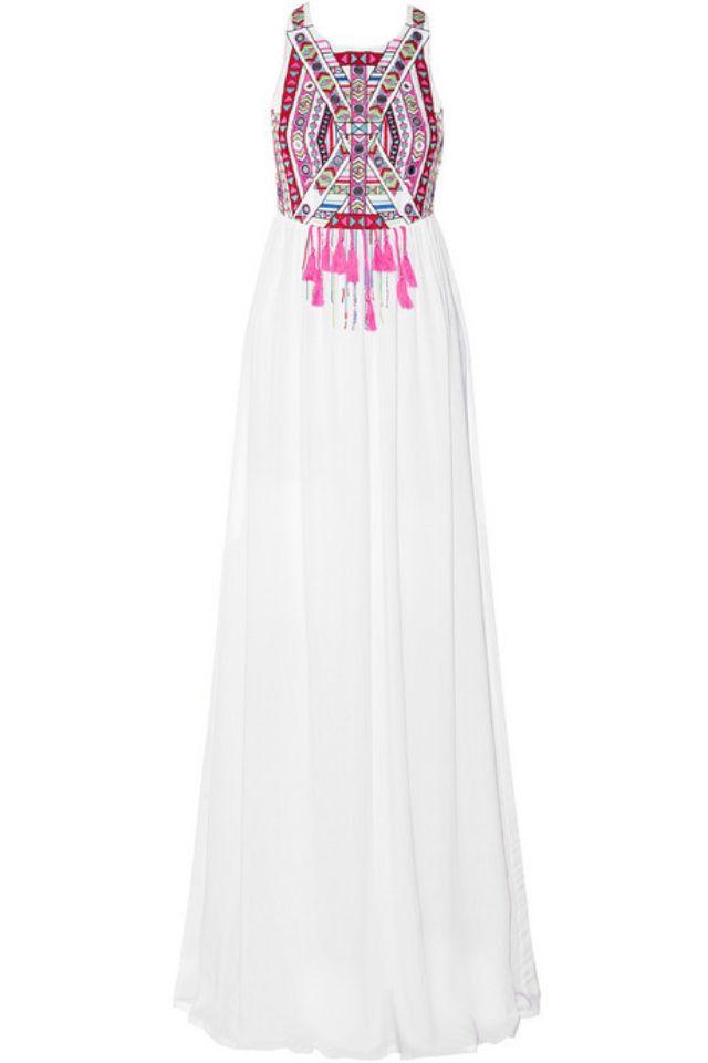 NET-A-PORTER Embroidered Maxi Dress