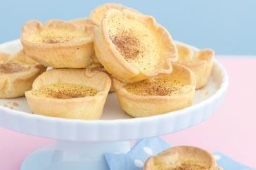 Caramel custard tarts | Pansy Garden Party | Pinterest