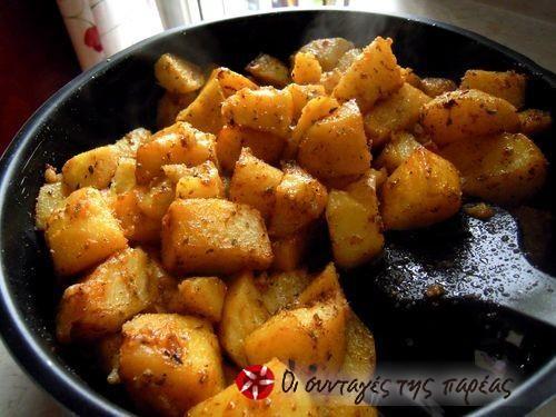 Πατάτες φούρνου αλλιώτικες #sintagespareas #patatesfournou