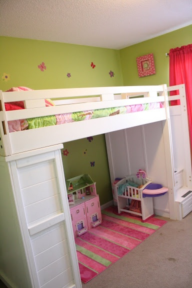 Loft Bunk Bed With Storage Love The Stairs On Side, Plus Ally Can Put All