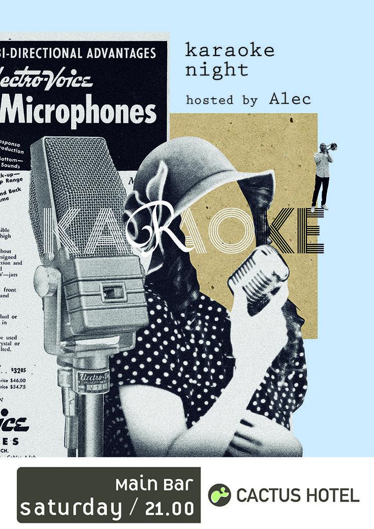 Graphic Design Poster  Karaoke Night
