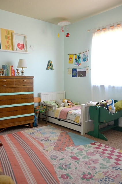 vintage toddler room... Seriously precious!