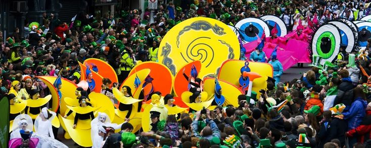 O' CONNELL STREET:   The Parade kicks off at 12pm from Parnell Square and continues on to O'Connell Street and over O'Connell Bridge to Westmoreland Street!