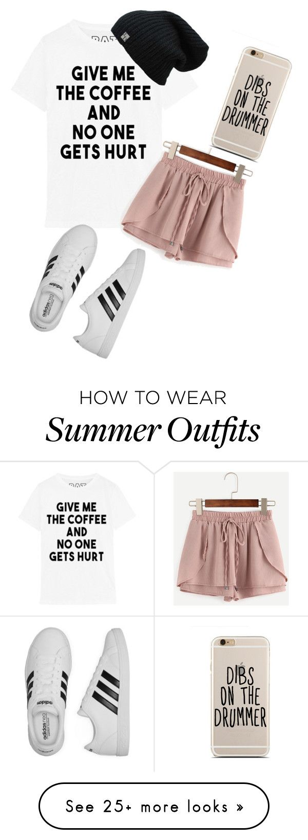 """""""August's Outfit"""" by kalysta-bruner on Polyvore featuring adidas"""