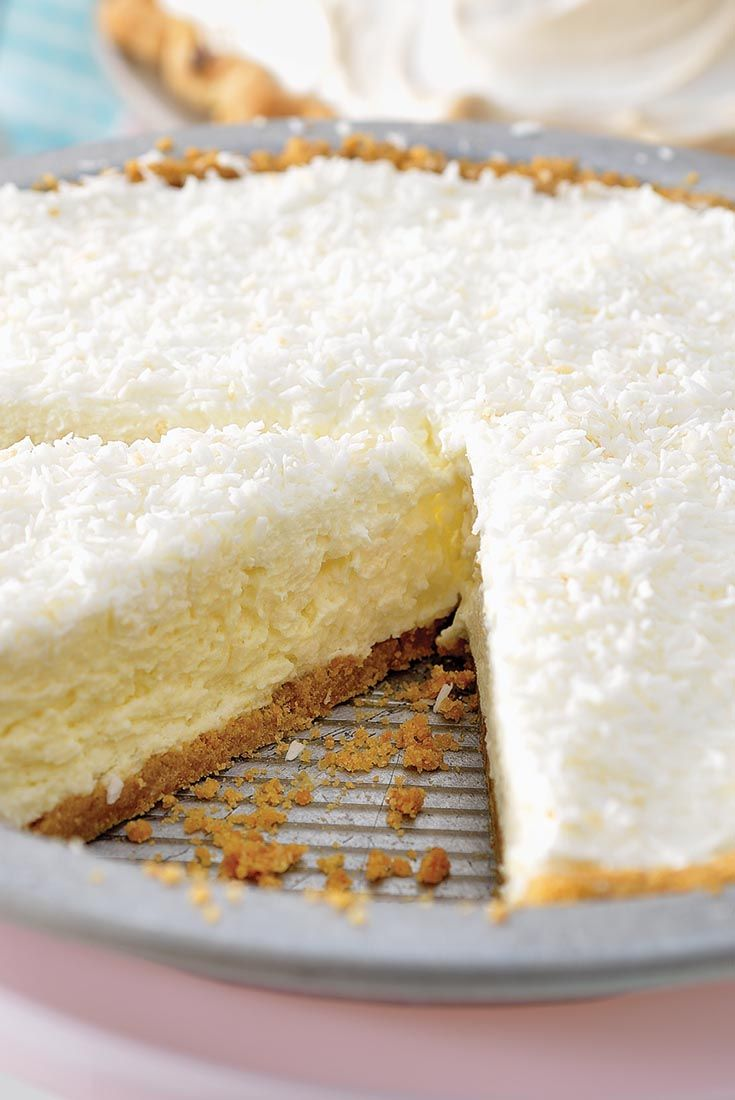 Creamy Coconut Pie Recipe. This is a KAF recipe and uses their products, including pasty cream power and coconut extract.