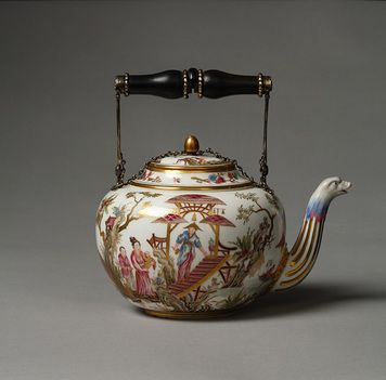 Teapot, porcelana de Sèvres de 1778 The David Collection - Cerámica franceses