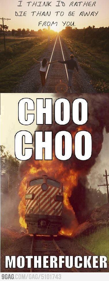 Choo Choo: Choochoo, Funny Pics, Funny Shit, Funny Pictures, Instagram Quotes, Funny Stuff, Choo Motherfuck, So Funny, Choo Choo
