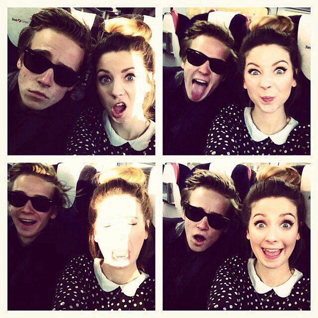 Joe & Zoe Sugg- Zoella & Thatcher Joe