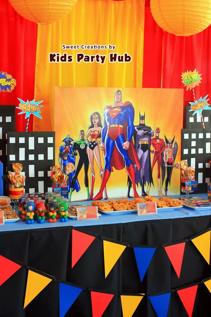 Superhero party ideas and diy decorations justice league