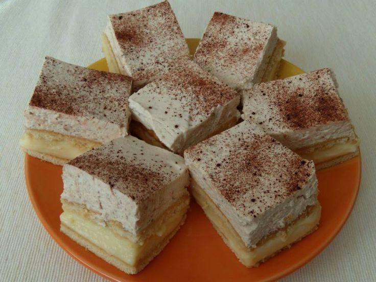 Ha nincs kedved bekapcsolni a sütőt, ám valami extra finom sütire vágysz, ez a neked való recept! Könnyen elkészítheted, nem kell hozzá nagy konyhai gyakorlat! Hozzávalók 1 l tej, 3 cs. vaníliás pudingpor, 10 ek.cukor, 25 dkg margarin, szö...