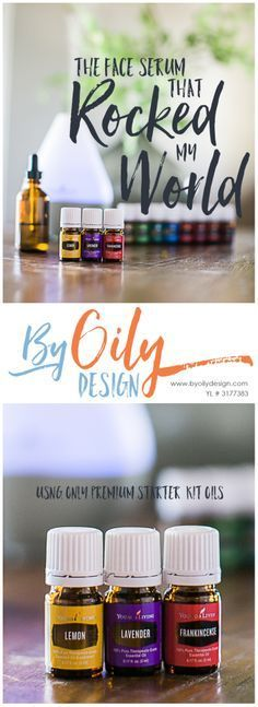 The Essential Oil Face Serum that rocked my world. Kissing my wrinkles good by. Made with only Premium Starter Kit oils and carrier oil. byoilydesign.com