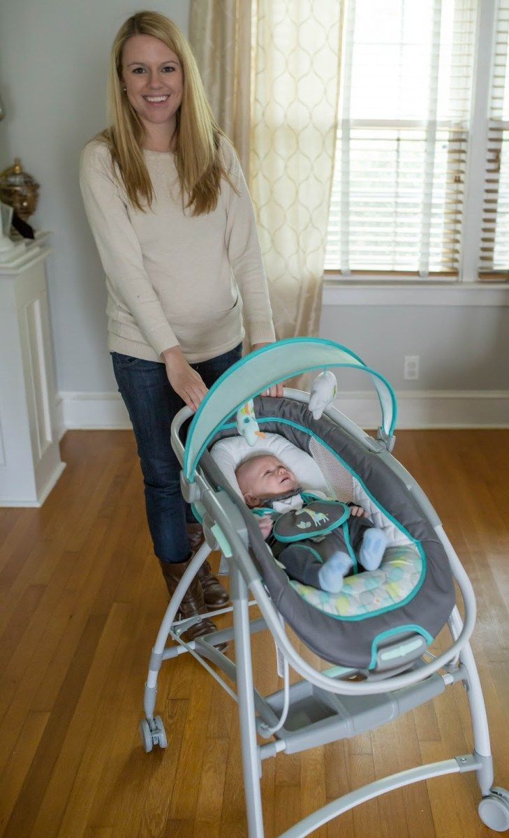 The Ingenuity InReach Mobile Lounger and Bouncer - no more having to bend over to pick up baby and it rolls from room to room with you! Click through for your chance to enter to win one in our GIVEAWAY!