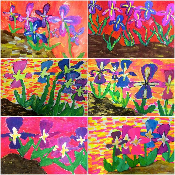 Exploring Art: Elementary Art: 5th Grade Van Gogh Irises