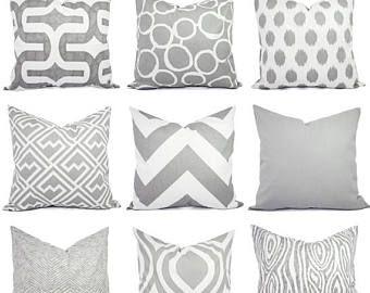 15% de descuento venta almohada cubrir - funda de almohada gris - gris funda de almohada, almohada Lumbar gris - gris Euro Sham - 16 18 20 22 24 26 pulgadas almohada