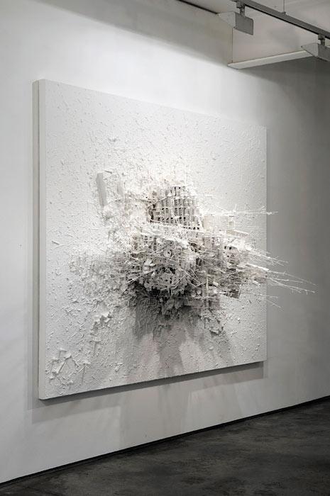 Gerry Judah white post modern art