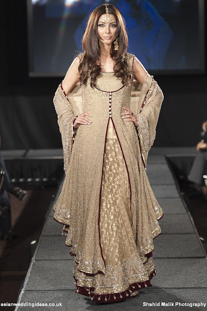 Shazia's 2011 collection, Pakistani bridal couture - Ignore the model. -_-