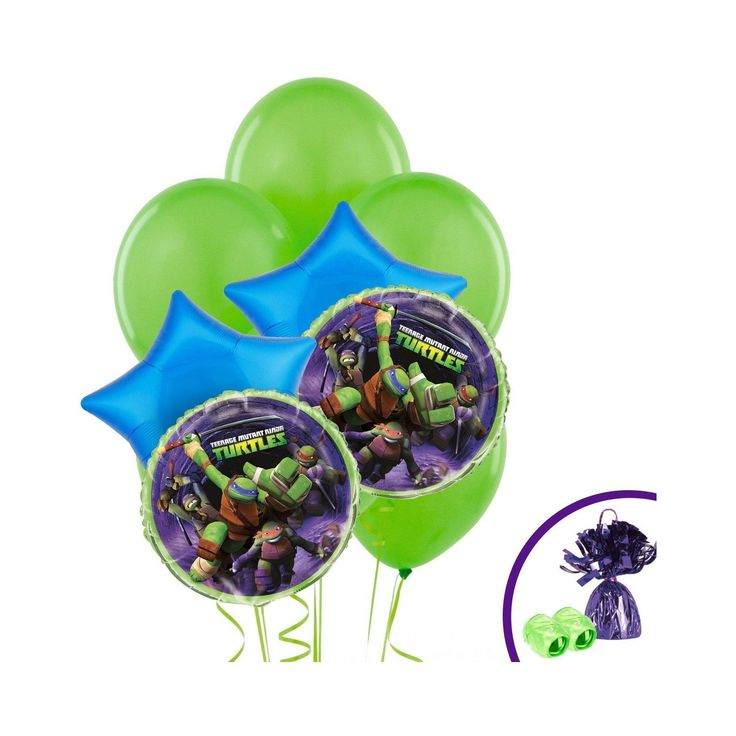 Teenage Mutant Ninja Turtles Balloon Bouquet, Green