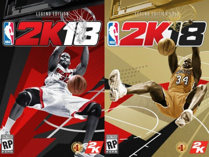 NBA 2k18 Legend Editions and Shaq on Cover