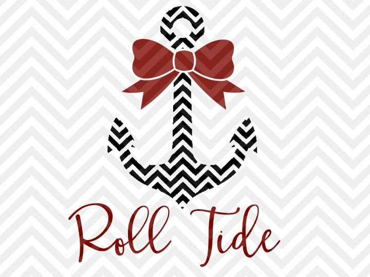 Alabama Roll Tide Anchor Bow SVG and DXF Cut File • PNG • Vector • Calligraphy • Download File • Cricut • Silhouette by KristinAmandaDesigns on Etsy https://www.etsy.com/listing/462074969/alabama-roll-tide-anchor-bow-svg-and-dxf