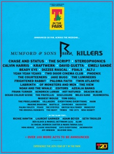 2013 T in the Park | Jul 12 - 14 | Balado Park | Kinross | U.K. - wish we could go! the lineup looks fantastic. shame we are already going home the month before.
