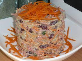 Очень быстрый, простой, но, тем не менее, вкусный и питательный салат!