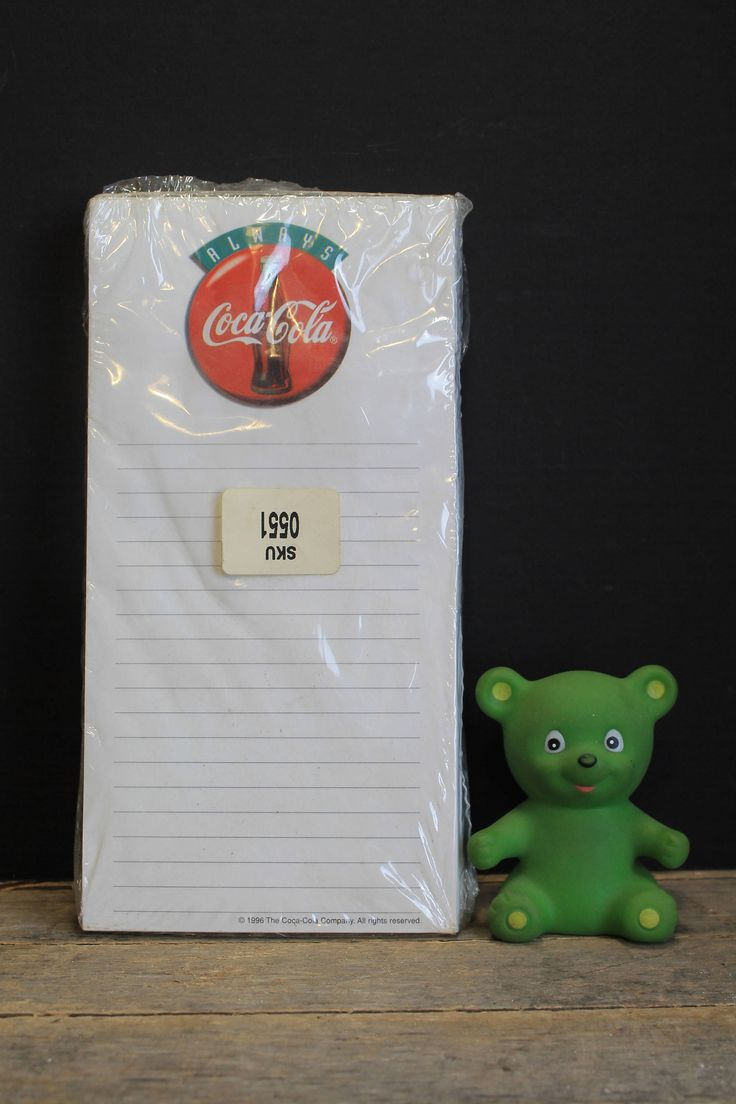 3 New Old Stock Vintage Coke Cola Magnetic Note Pads // Coca Cola Brand Product // Always Coca Cola by MyBarn on Etsy
