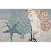 Found it at Wayfair - Coastal Egret Novelty Rug