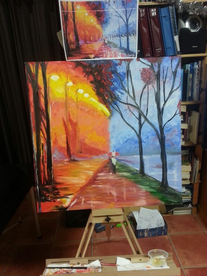 Seasons.  My First Painting.  Oil Paints.  27thDec2012