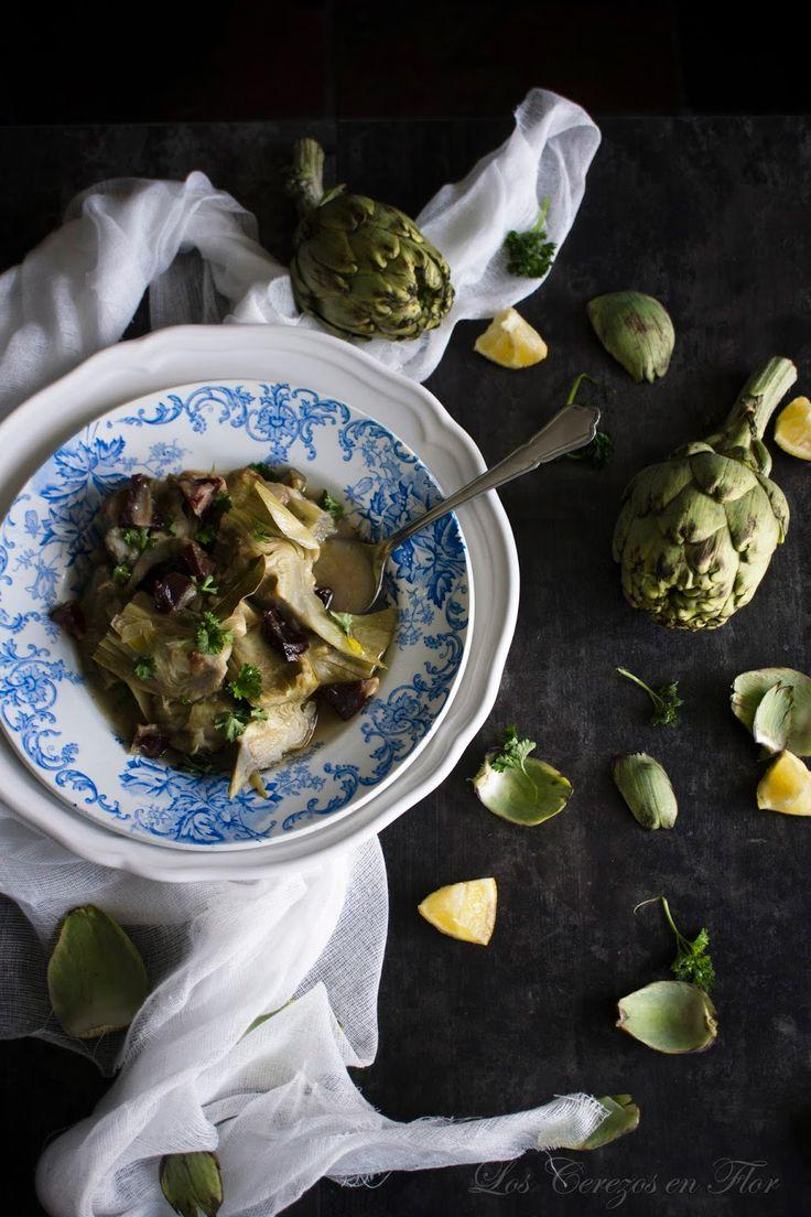 alcachofas, vino montilla moriles, receta tradicional, verduras, producto de temporada, tradición