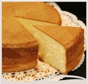 Rica torta de vainilla.