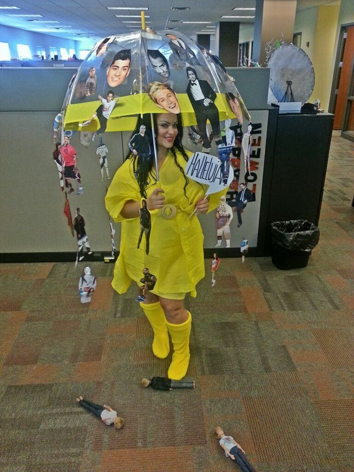 Diy Raining Men Costume: Created This Costume With Magazines Cut Out Of Guys. It's