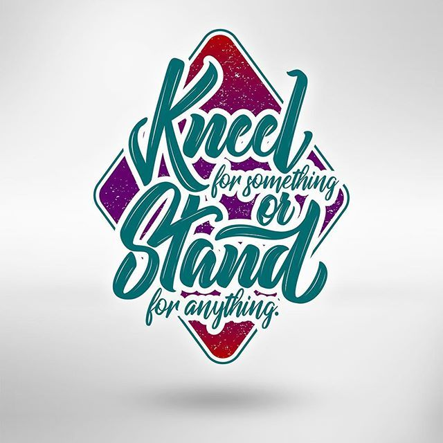 Kneel or Stand lettering design for the BP-24/7 🖊 - - - #handstyle #StrengthInLetters #typespire #typeriot #typedrawn #handlettering #typetopia #artoftype #ligaturecollective #letteringco #goodtype #typematters #thedailytype #inspiration #design #TYxCA #typeverything #typegang #calligritype #brushcalligraphy #moderncalligraphy #handmadefont #positive #calligraphymasters #typespot #greattype #typographyinspired #designspiration #typedaily #50words @handmadefont @typedaily @typeriot