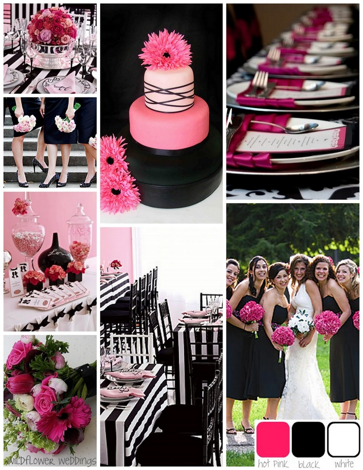 pink black and white weddings - Etame.mibawa.co