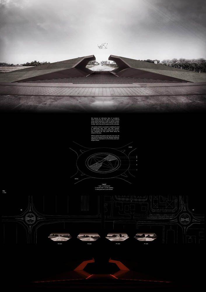 Lamborghini Road Monument Competition SECOND PLACE was awarded to Francesco Pergetti, Mattia Grilli
